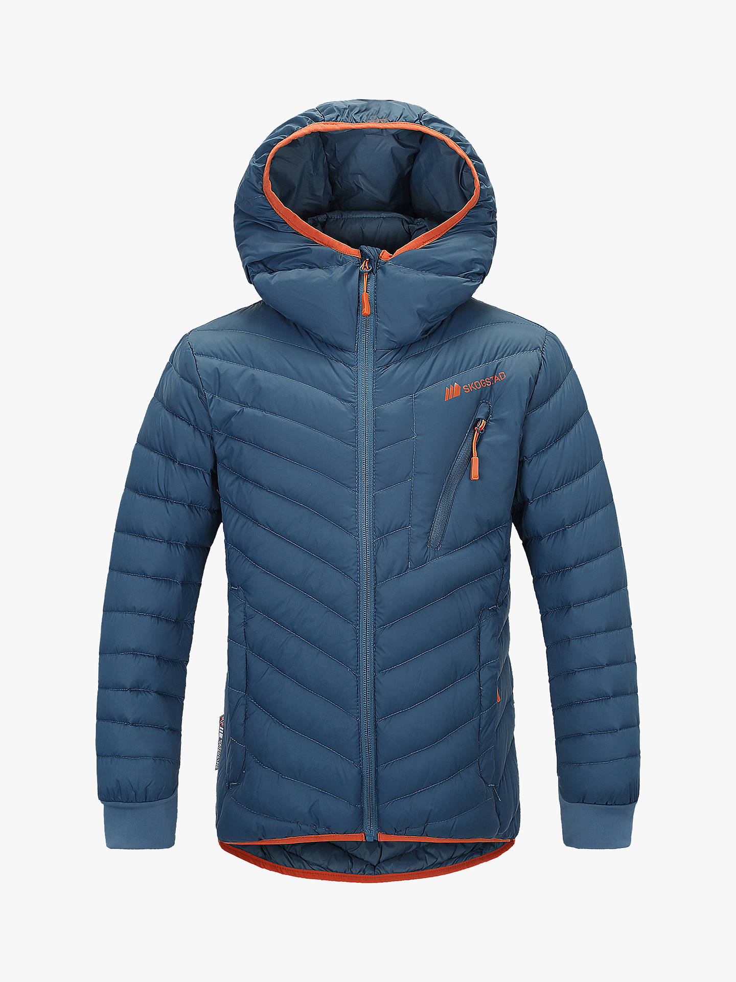 BuySkogstad Boys' Lightweight Down Jacket, Blue Teal, 12 years Online at johnlewis.com