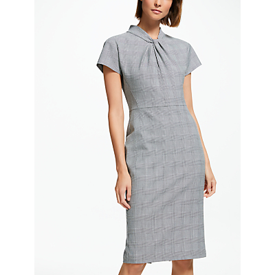 Finery Alisa Check Suit Dress, Grey/Multi
