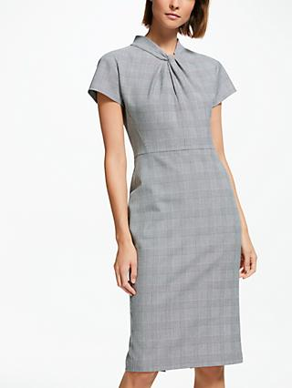 Finery Alisa Check Suit Dress, Grey/Multi