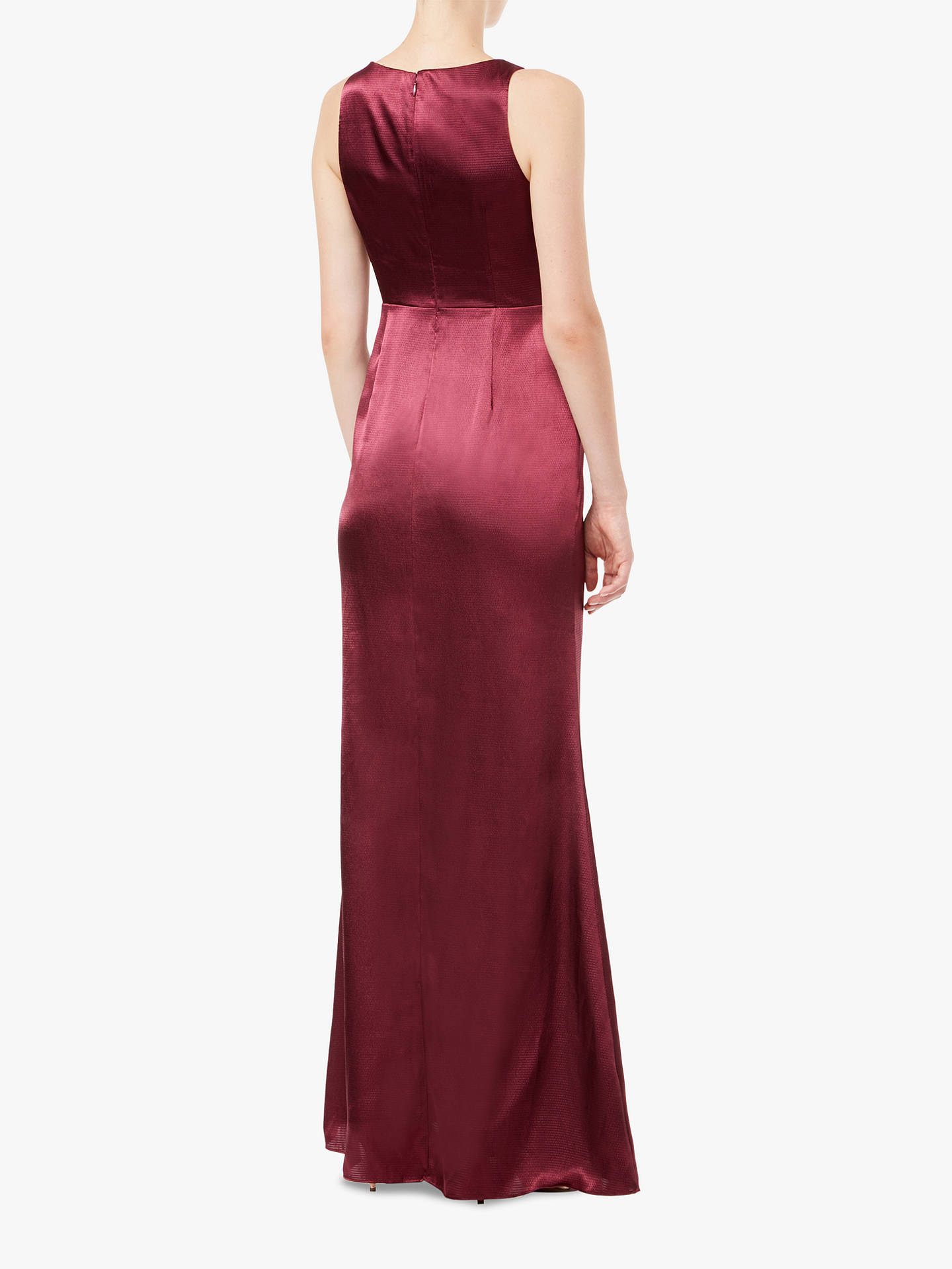 BuyAdrianna Papell Hammered Maxi Dress, Deep Wine, 6 Online at johnlewis.com
