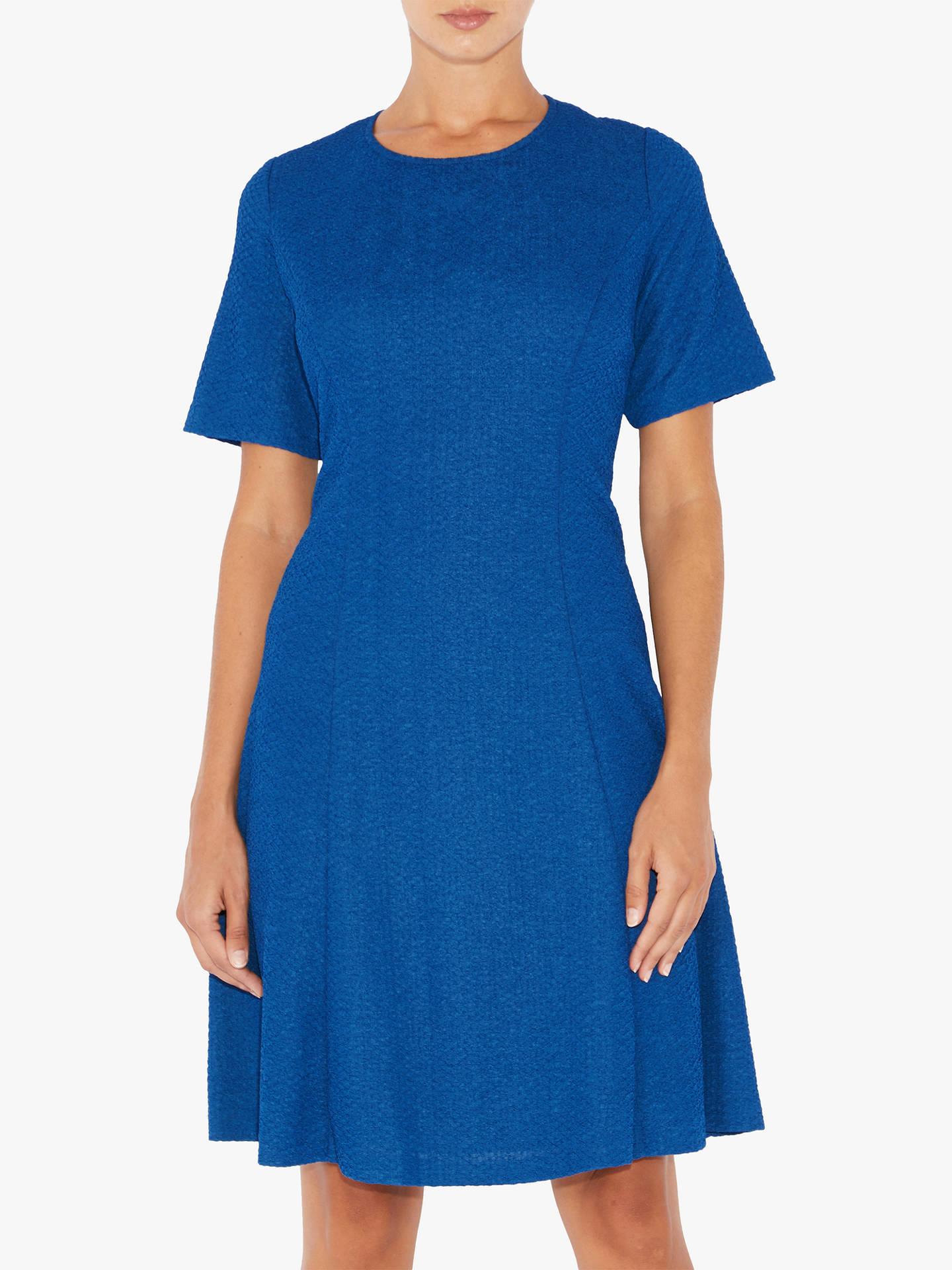BuyAdrianna Papell Plus Size Textured Knit Flared Dress, Lapis, XXXL Online at johnlewis.com