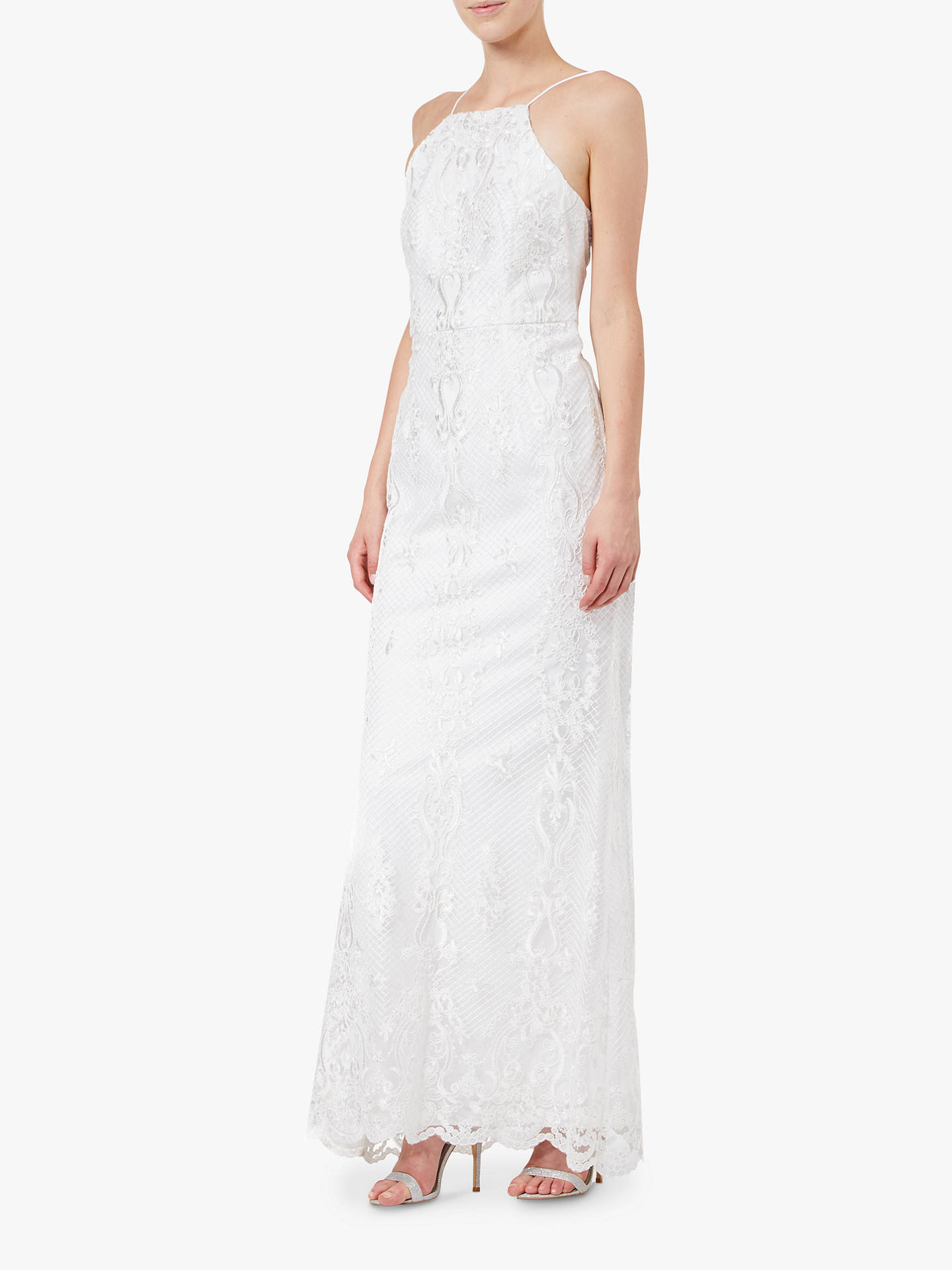 BuyAdrianna Papell Embroidered Tulle Gown, Ivory, 6 Online at johnlewis.com