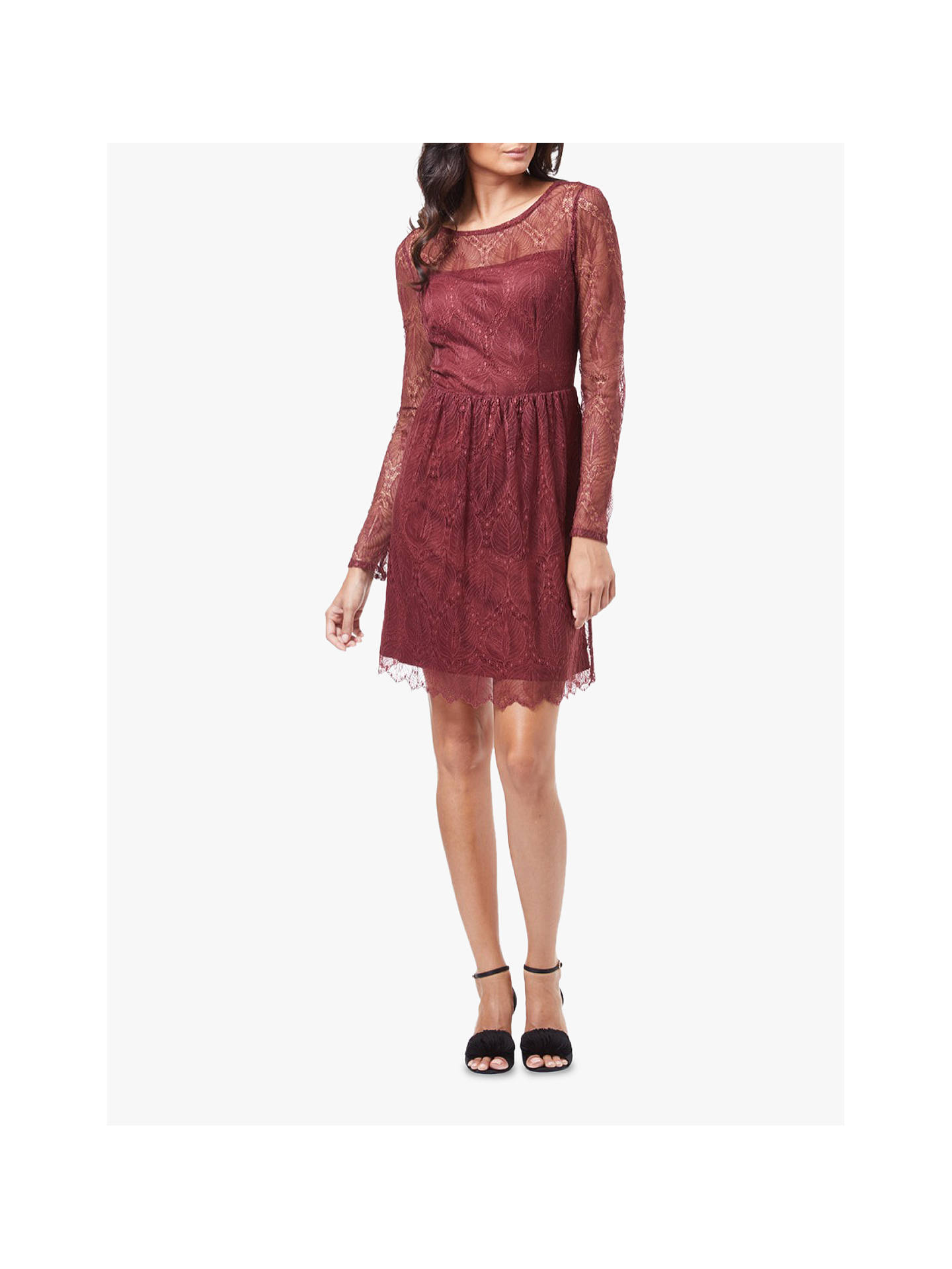 BuyAdrianna Papell Delicate Flare Dress, Pale Mahogany, 8 Online at johnlewis.com