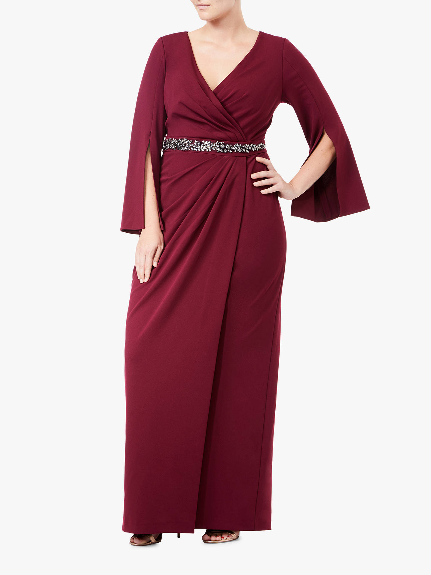 89f608cf331 Buy Adrianna Papell Plus Size Long Split Sleeve Evening Dress