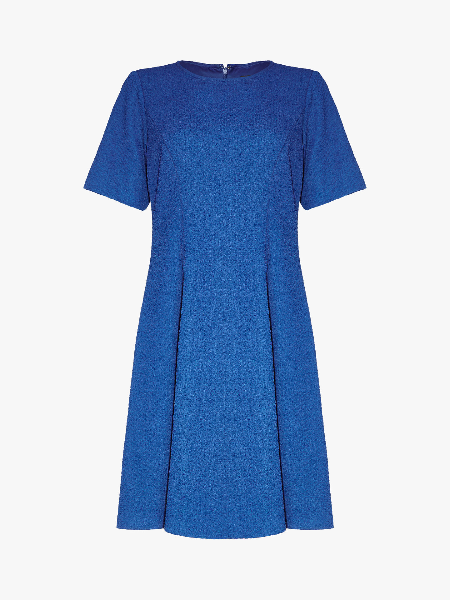 BuyAdrianna Papell Petite Textured Knit Flared Dress, Lapis, XS Online at johnlewis.com