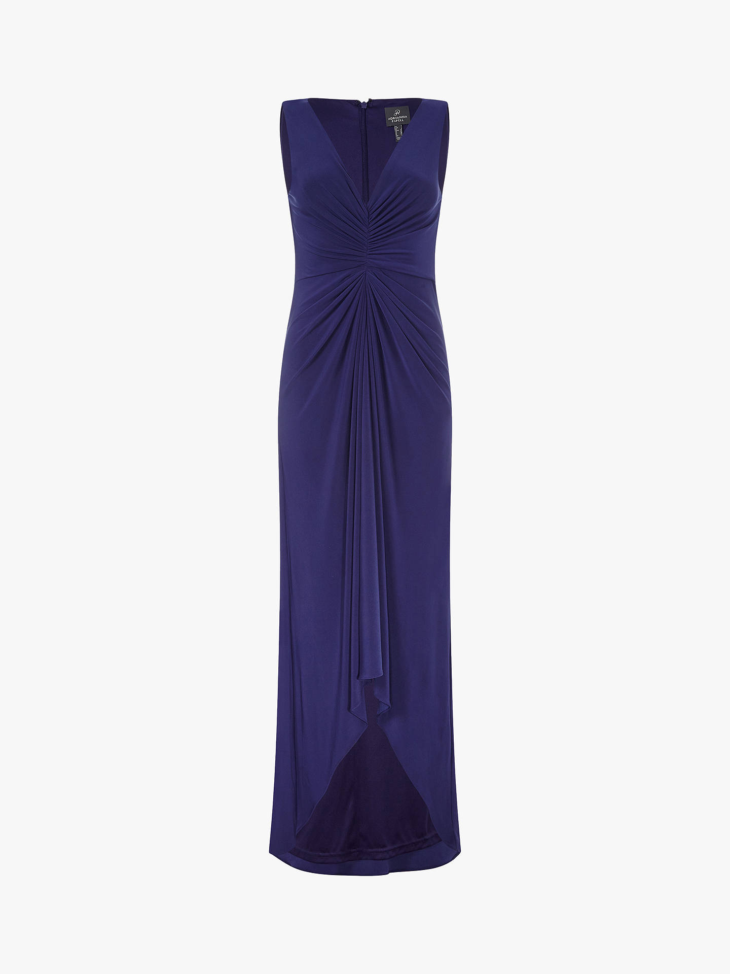 BuyAdrianna Papell Plus Size Jersey Draped Maxi Dress, Admiral Blue, 24 Online at johnlewis.com