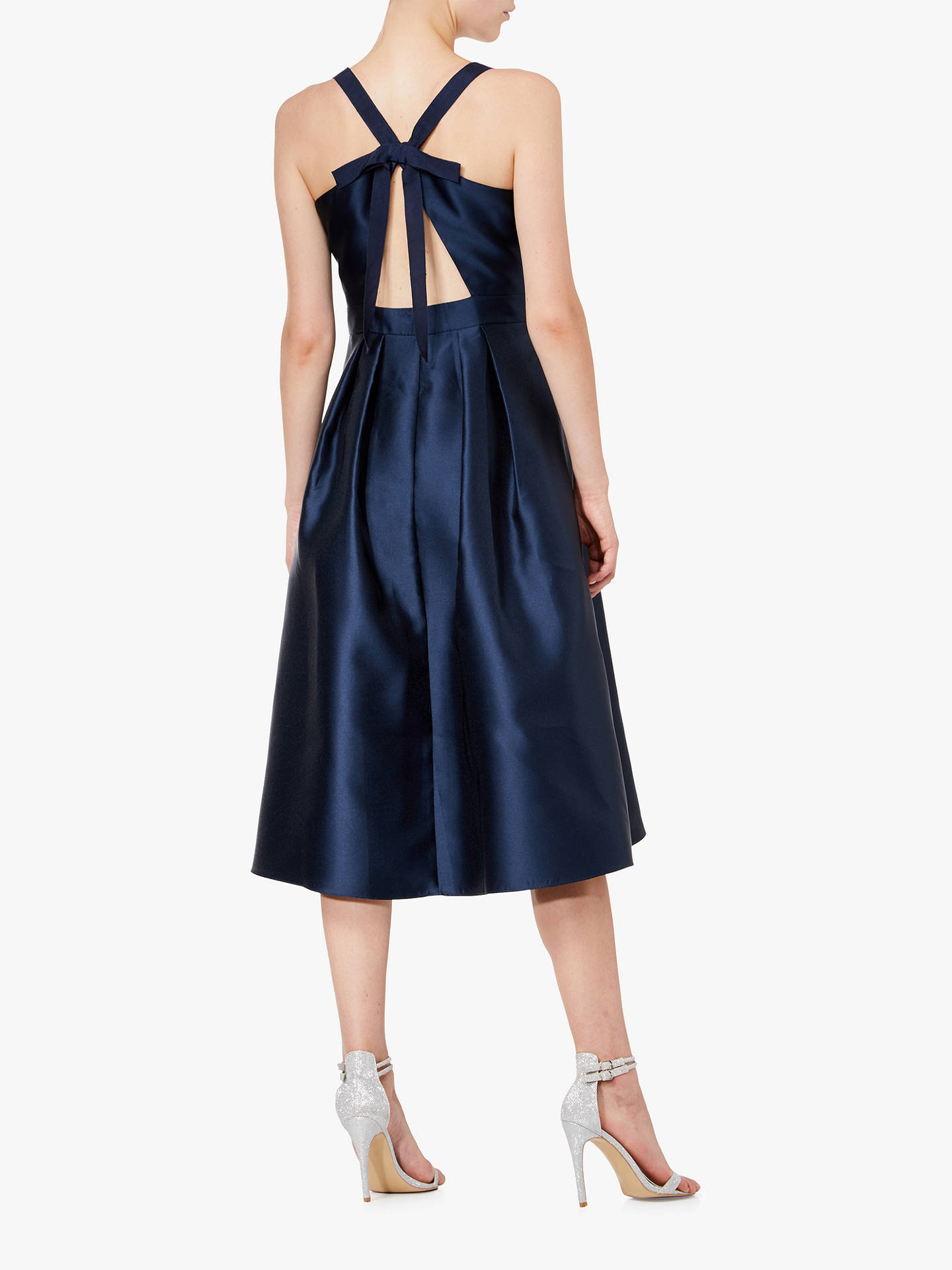 Buy Adrianna Papell Mikado Tie Back Taffeta Dress, Midnight, 18 Online at johnlewis.com