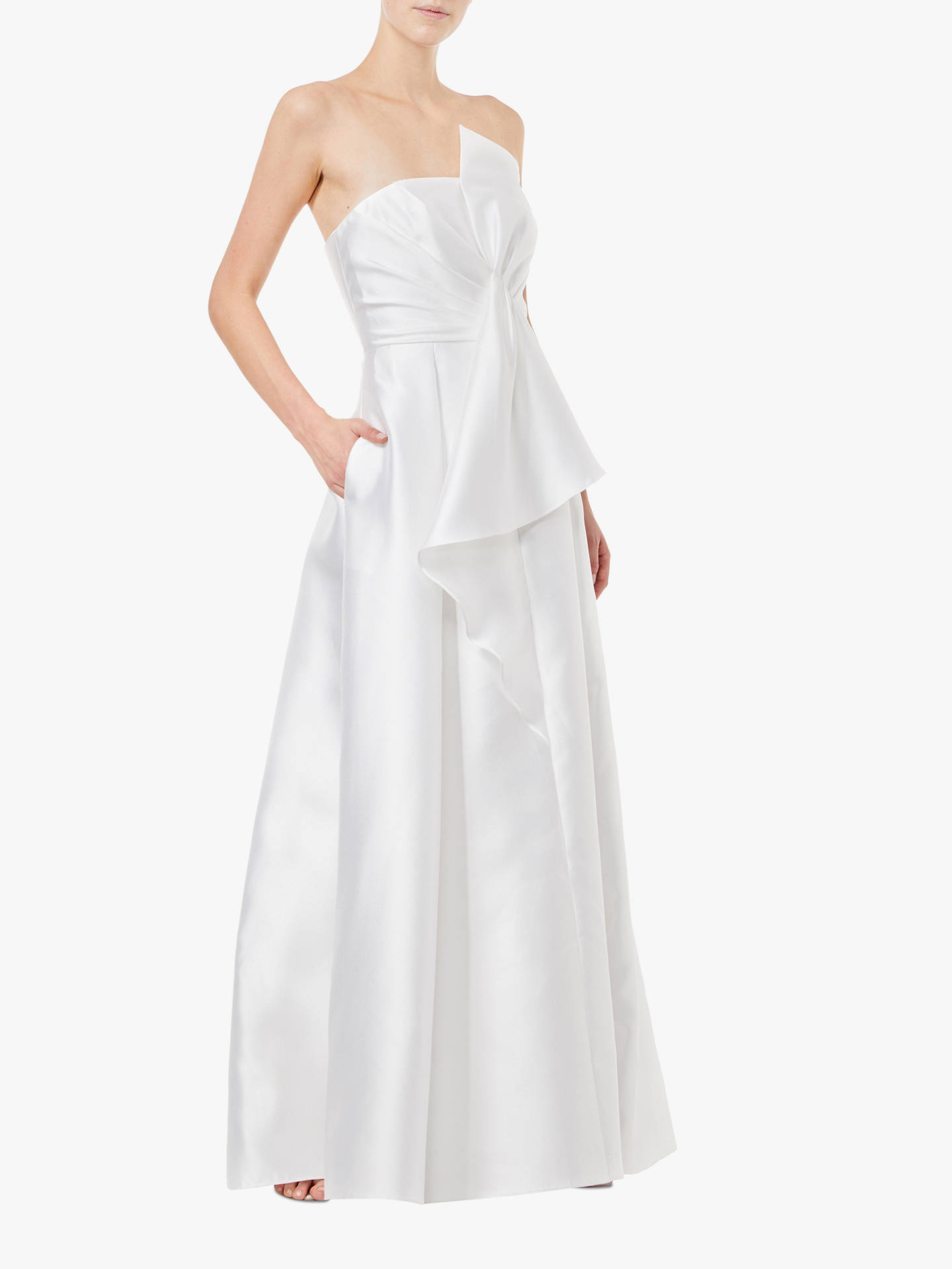 BuyAdrianna Papell Mikado Strapless Long Dress, Ivory, 8 Online at johnlewis.com