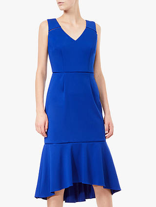 Buy Adrianna Papell Fluted Sheath Dress, Cyprus Blue, 6 Online at johnlewis.com