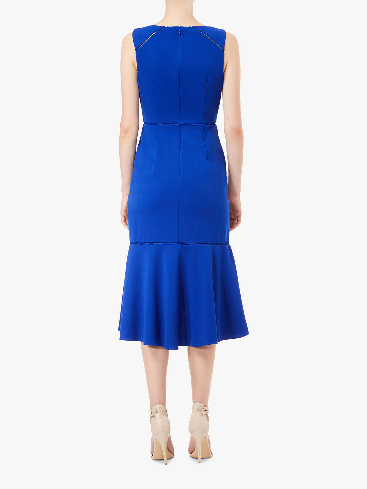 BuyAdrianna Papell Fluted Sheath Dress, Cyprus Blue, 8 Online at johnlewis.com