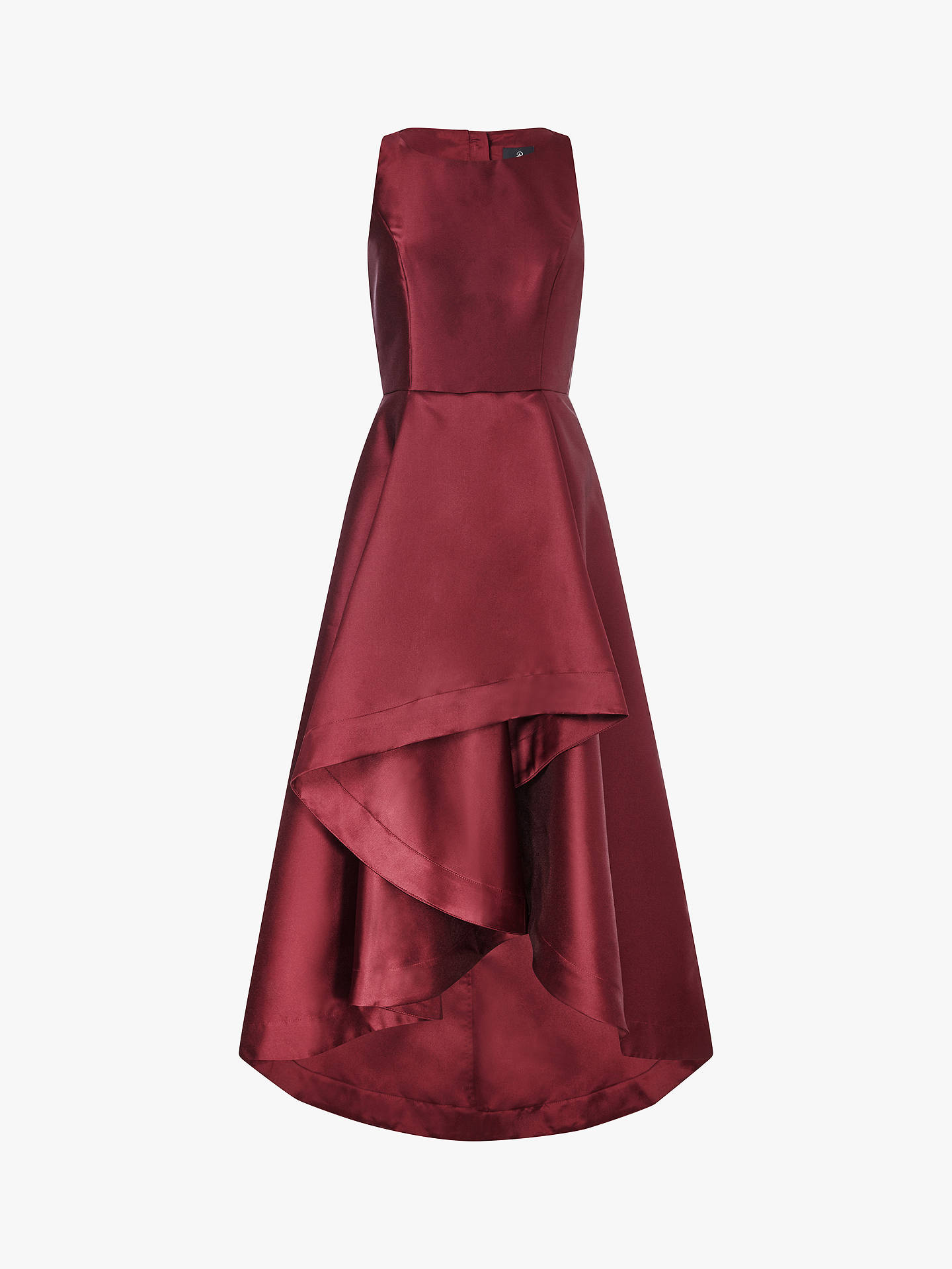 BuyAdrianna Papell Mikado A-Line High Low Dress, Garnet, 8 Online at johnlewis.com