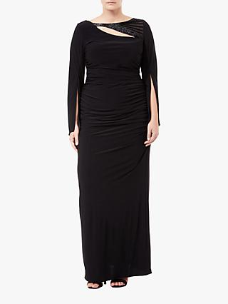 Adrianna Papell Plus Size Embellished Jersey Maxi Dress, Black