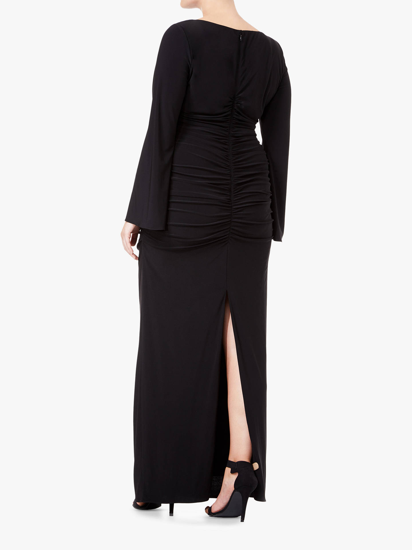 BuyAdrianna Papell Plus Size Embellished Jersey Maxi Dress, Black, 20 Online at johnlewis.com
