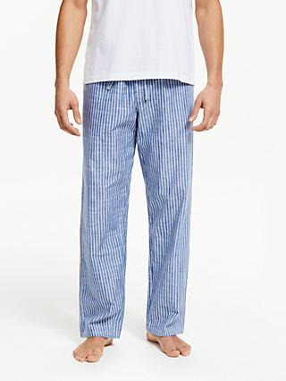 605445c6ec John Lewis   Partners Chambray Wash Striped Lounge Pants