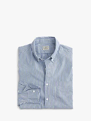 df3240738e J.Crew Slim Stretch Secret Wash Long Sleeve Poplin Stripe Shirt