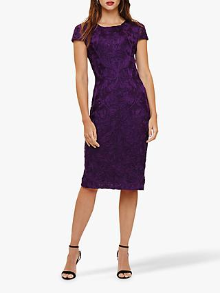 Phase Eight Cordelia Tapework Dress, Grape