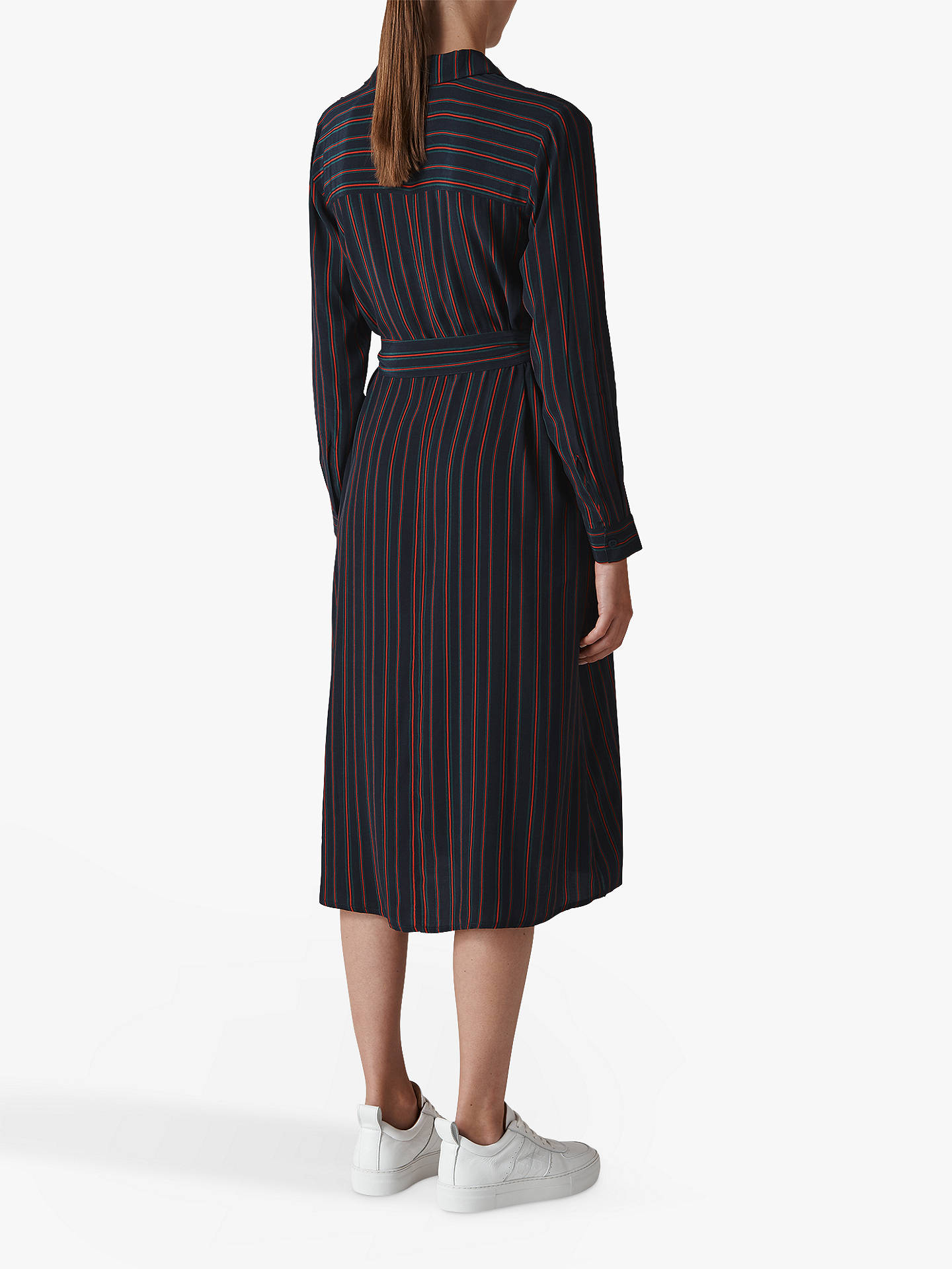 low cost Sales promotion 60% cheap Whistles Stripe Longline Shirt Dress, Blue/Red at John Lewis ...