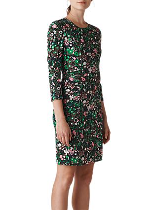 Whistles Adelaide Print Silk Blend Dress, Multi