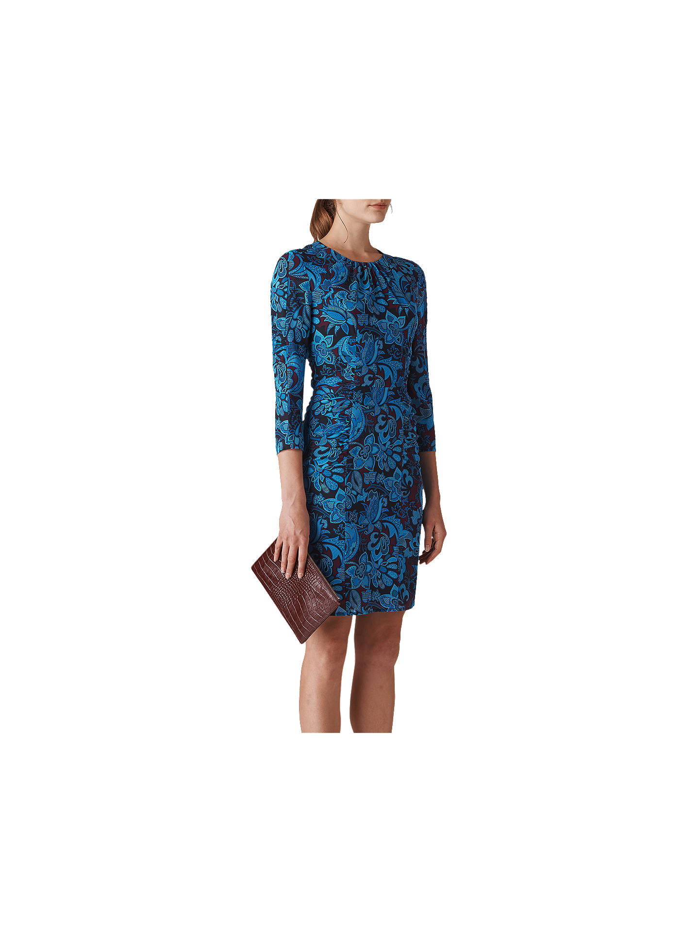 Buy Whistles Parker Print Silk Bodycon Dress, Multi, 6 Online at johnlewis.com