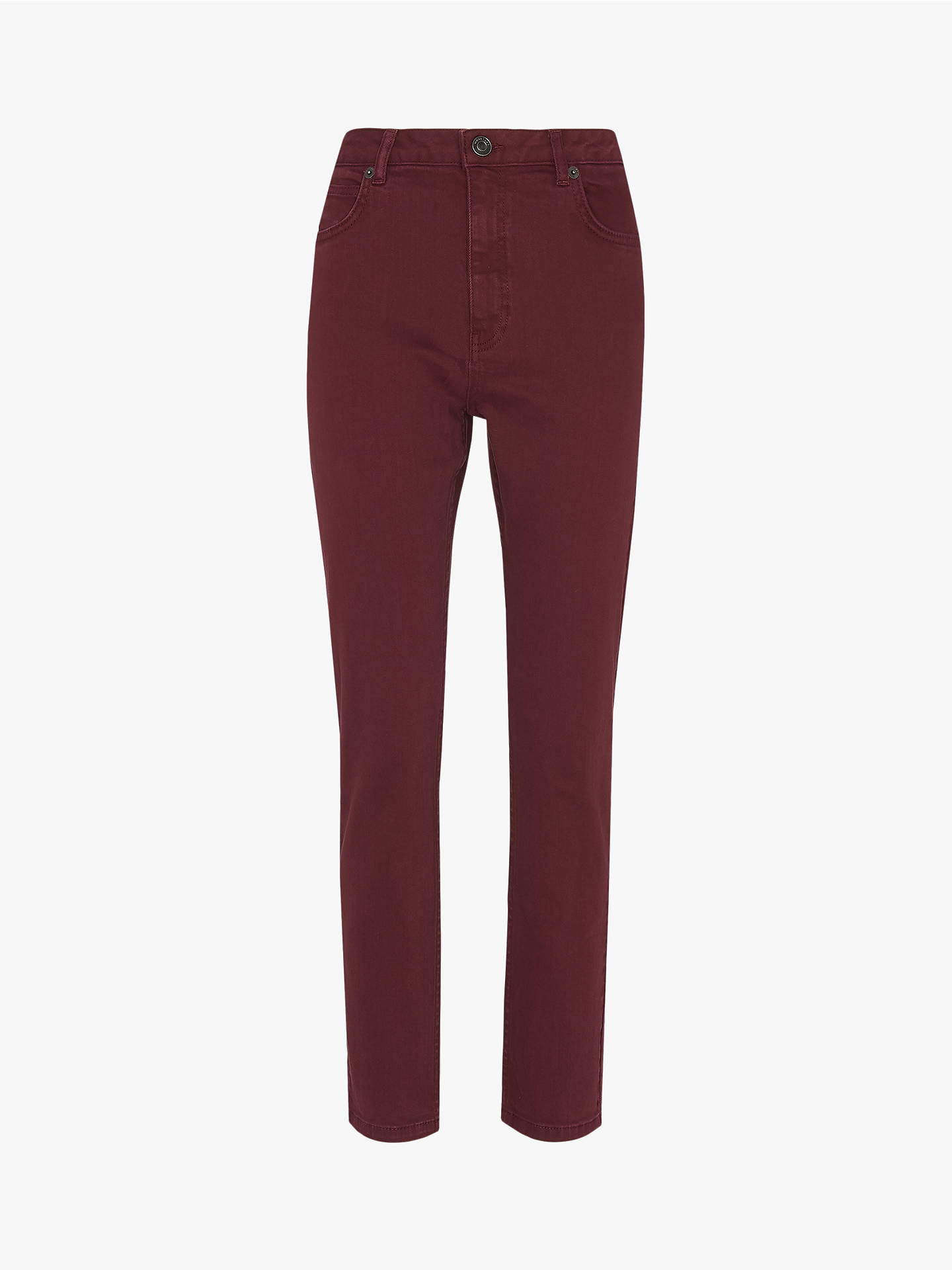 Buy Whistles Skinny Jeans, Burgundy, 26R Online at johnlewis.com