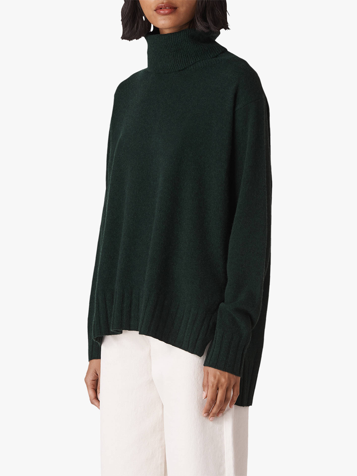 c72ca211247 Whistles Cashmere Roll Neck Jumper, Dark Green at John Lewis & Partners