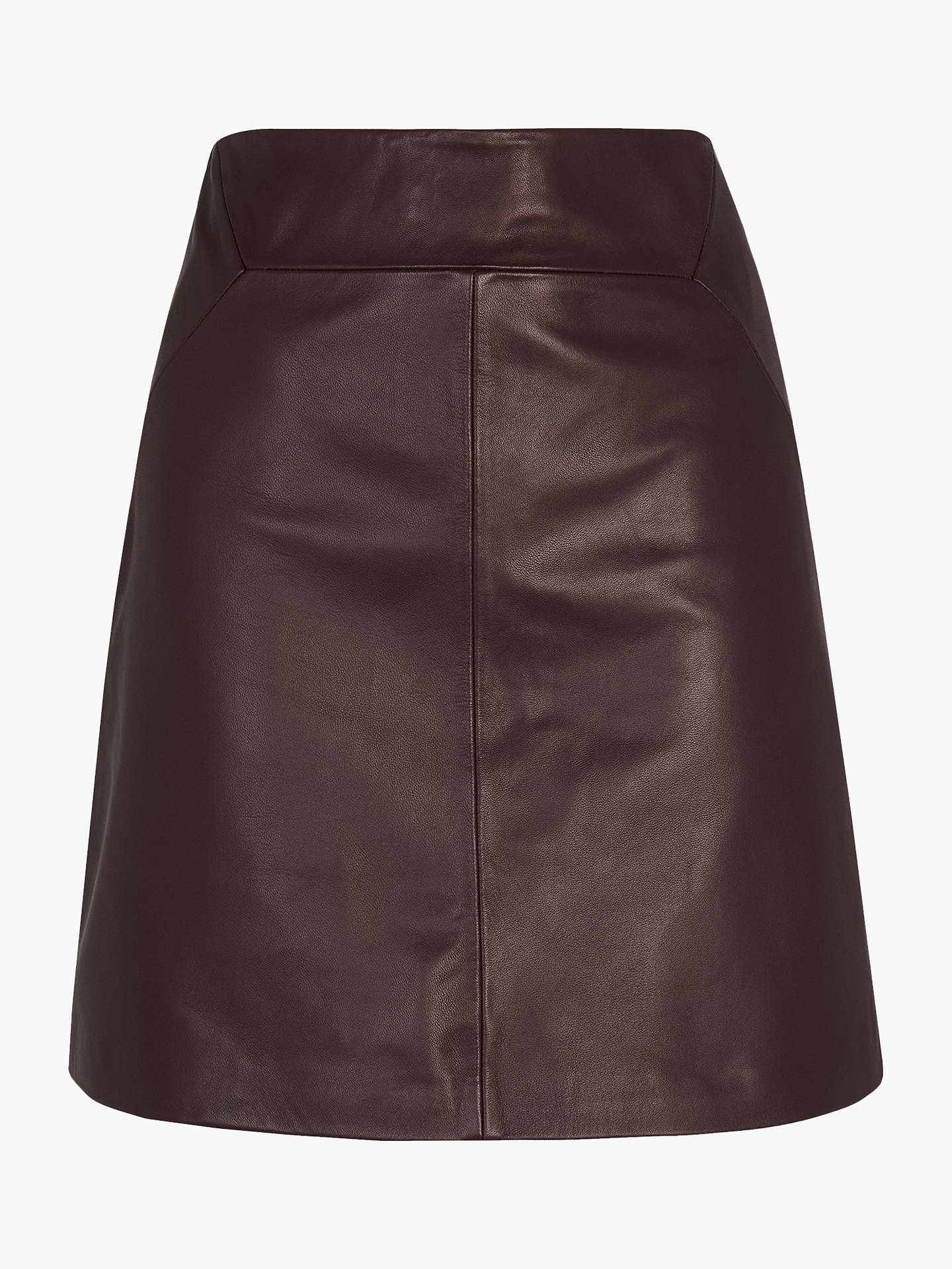 f3cecefe4 Buy Whistles A-Line Mini Leather Skirt, Burgundy, 10 Online at johnlewis.