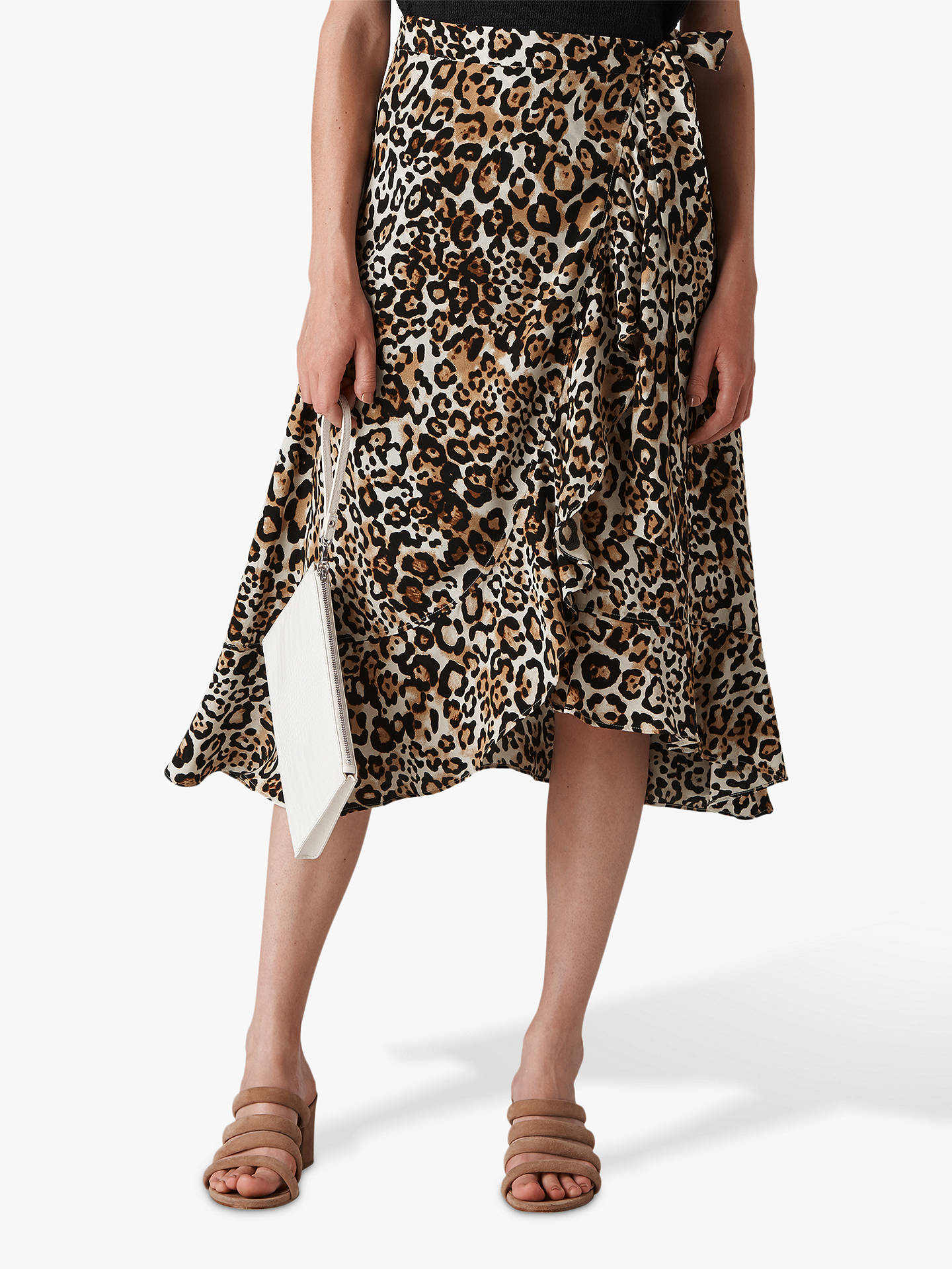 4a9e6752fec5 Buy Whistles Animal Print Wrap Skirt, Multi, 12 Online at johnlewis.com ...