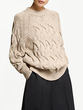 48fbe0c39 John Lewis   Partners Oversized Cable Knit Sweater
