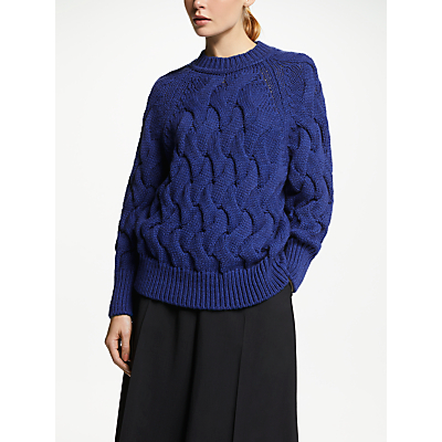 John Lewis & Partners Oversized Cable Knit Sweater
