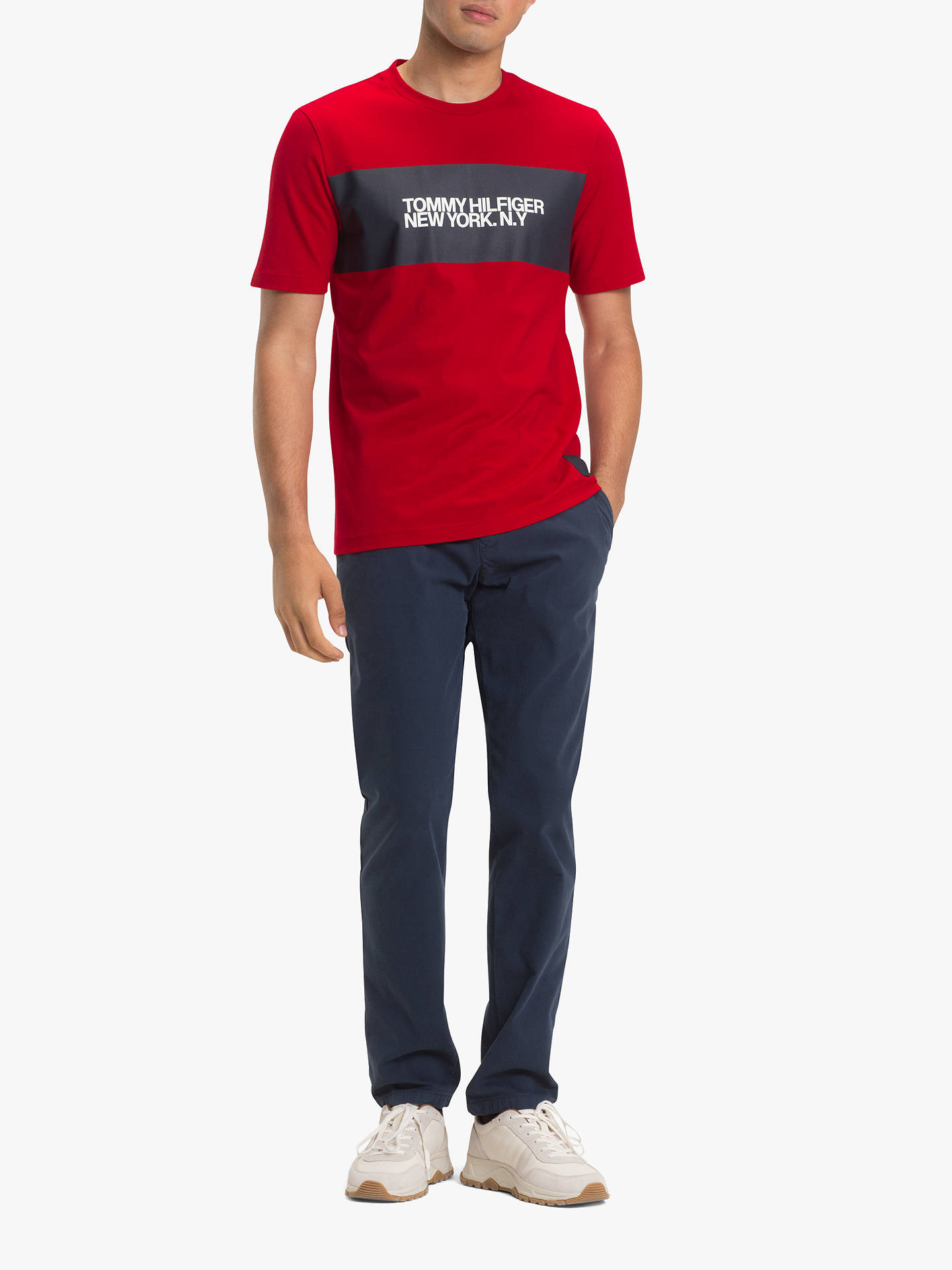 4668fda489ee7 ... BuyTommy Hilfiger Big Scale Logo T-Shirt, Haute Red, M Online at  johnlewis ...