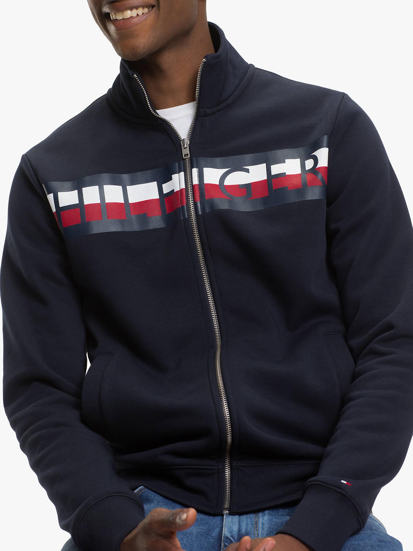 c723c4d5 ... Buy Tommy Hilfiger Zip Through Sweatshirt, Sky Captain, XL Online at  johnlewis.com