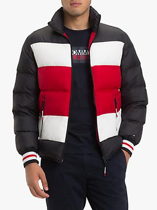 Tommy Hilfiger Stripe Quilted Bomber Jacket, Multi