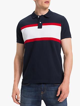 2e117674 Tommy Hilfiger Texture Slim Fit Polo Shirt, Gojiberry/Multi