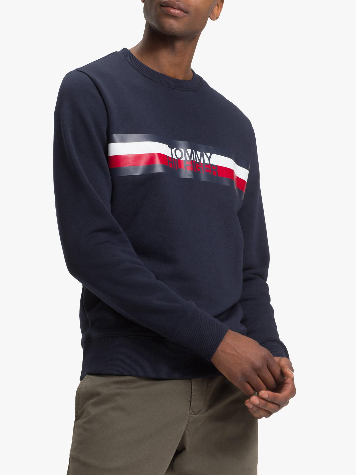 Tommy Hilfiger Logo Sweatshirt, Sky Captain at John Lewis