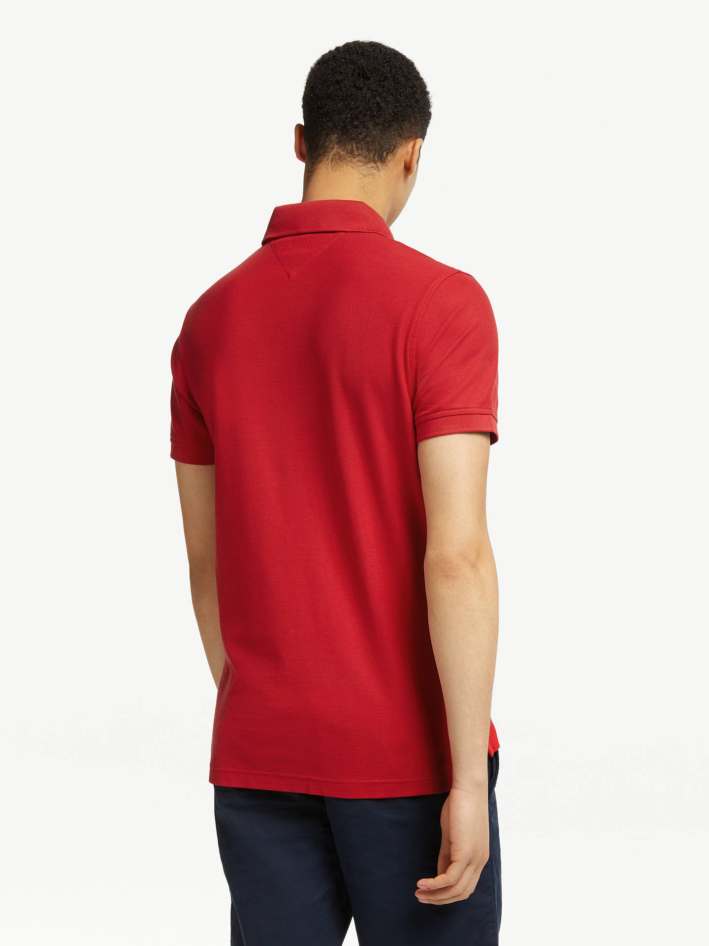 685b9f950 ... Buy Tommy Hilfiger Slim Polo Shirt, Haute Red, S Online at  johnlewis.com ...