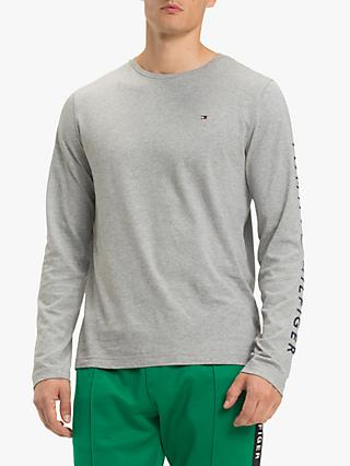 Tommy Hilfiger Long Sleeve Logo T-Shirt, Cloud Heather