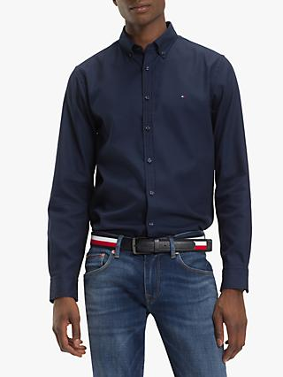 Tommy Hilfiger Slim Fit Cellular Dobby Shirt, Black Iris