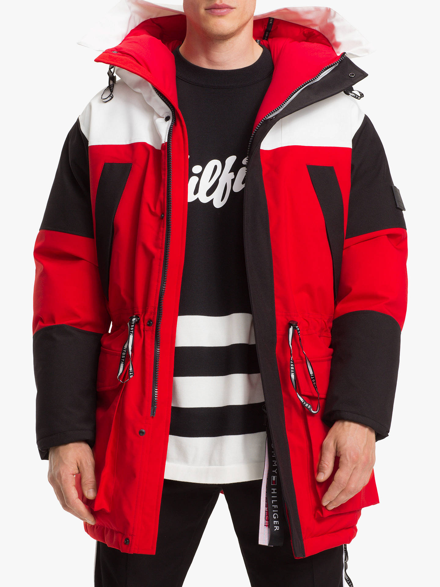 4409f77778 Tommy Hilfiger Colour Block Parka Coat, Multi