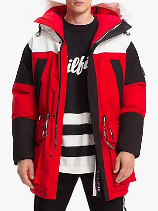 Tommy Hilfiger Colour Block Parka Coat, Multi