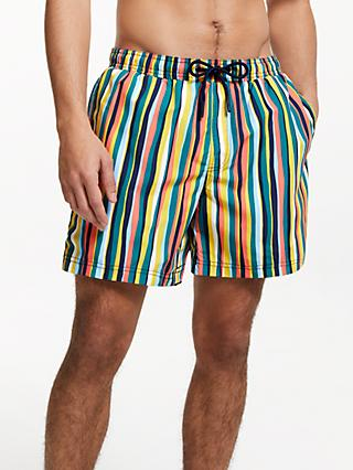 John Lewis & Partners Paint Stripe Swim Shorts, Multi
