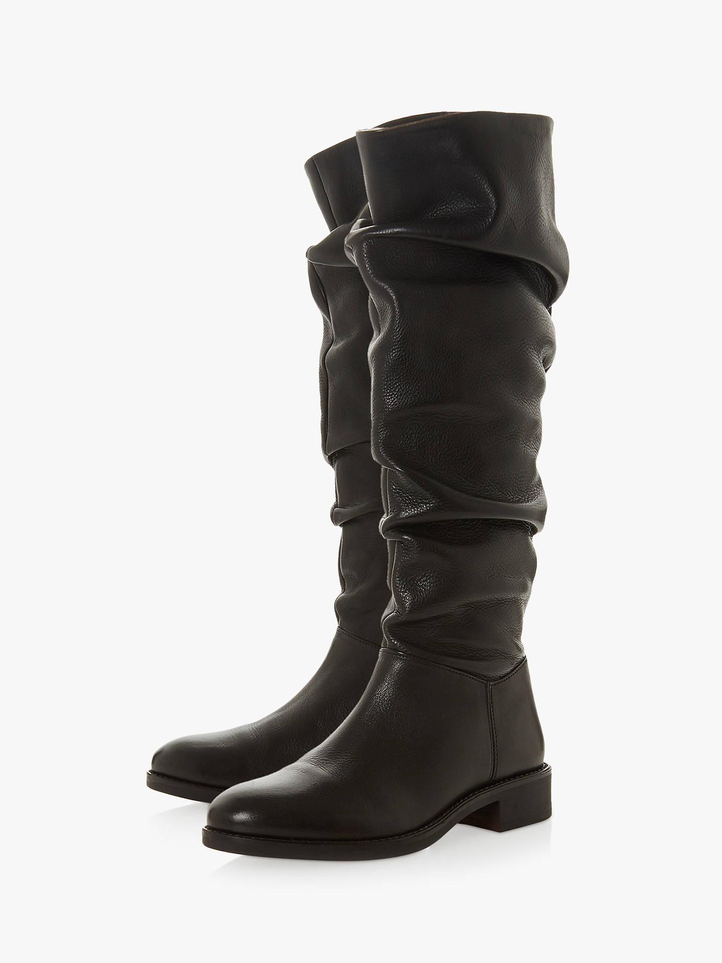 79b0c04e9e6 Dune Tabby Ruched Block Heel Long Boots at John Lewis & Partners