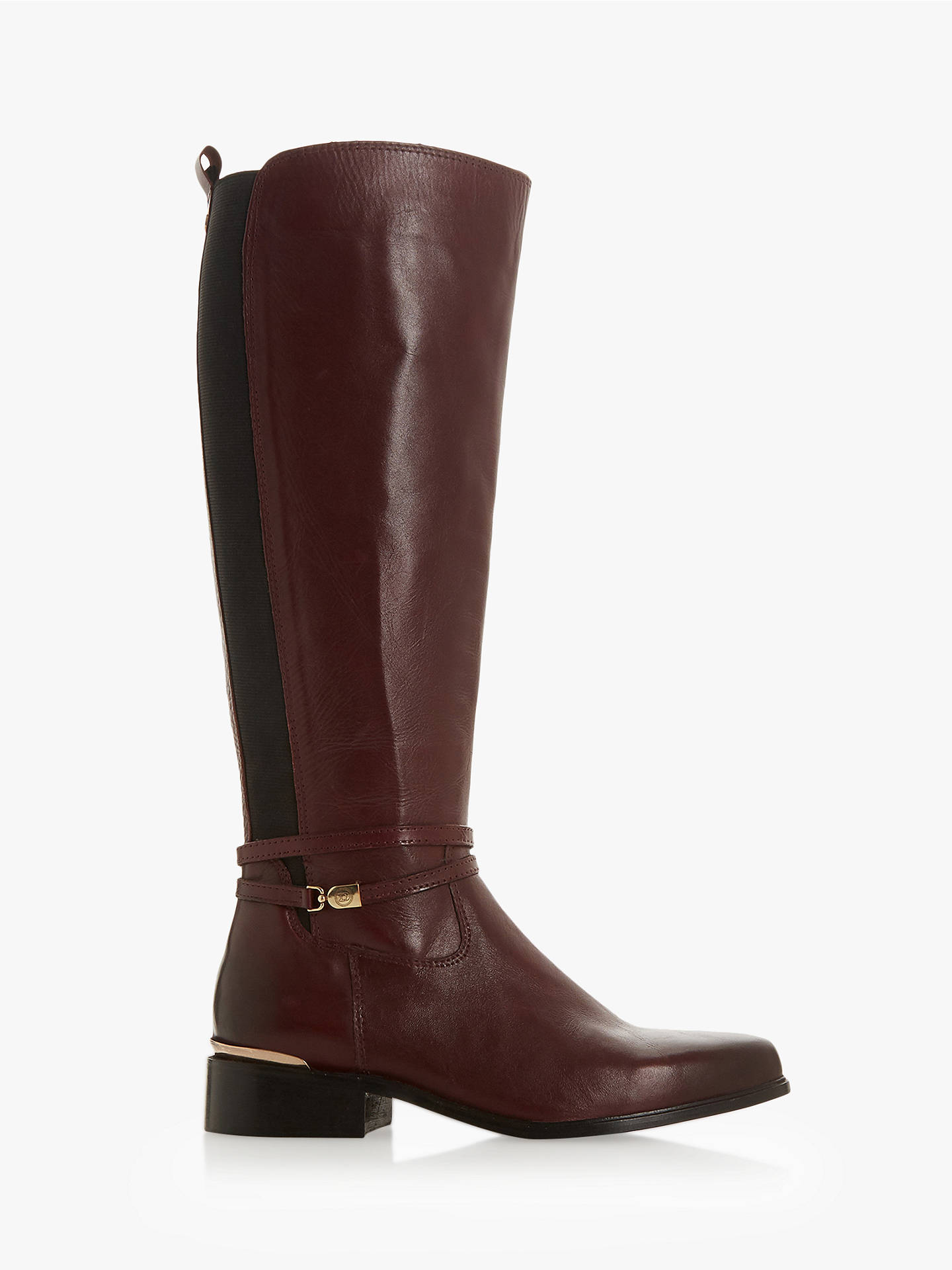 8b42f61fa67b Buy Dune Traviss Knee Boots, Burgundy Leather, 3 Online at johnlewis.com ...