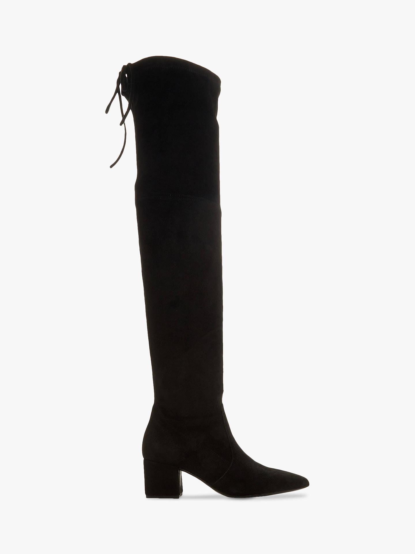 093997250fe Buy Dune Shadie Suede Block Heel Over The Knee Boots