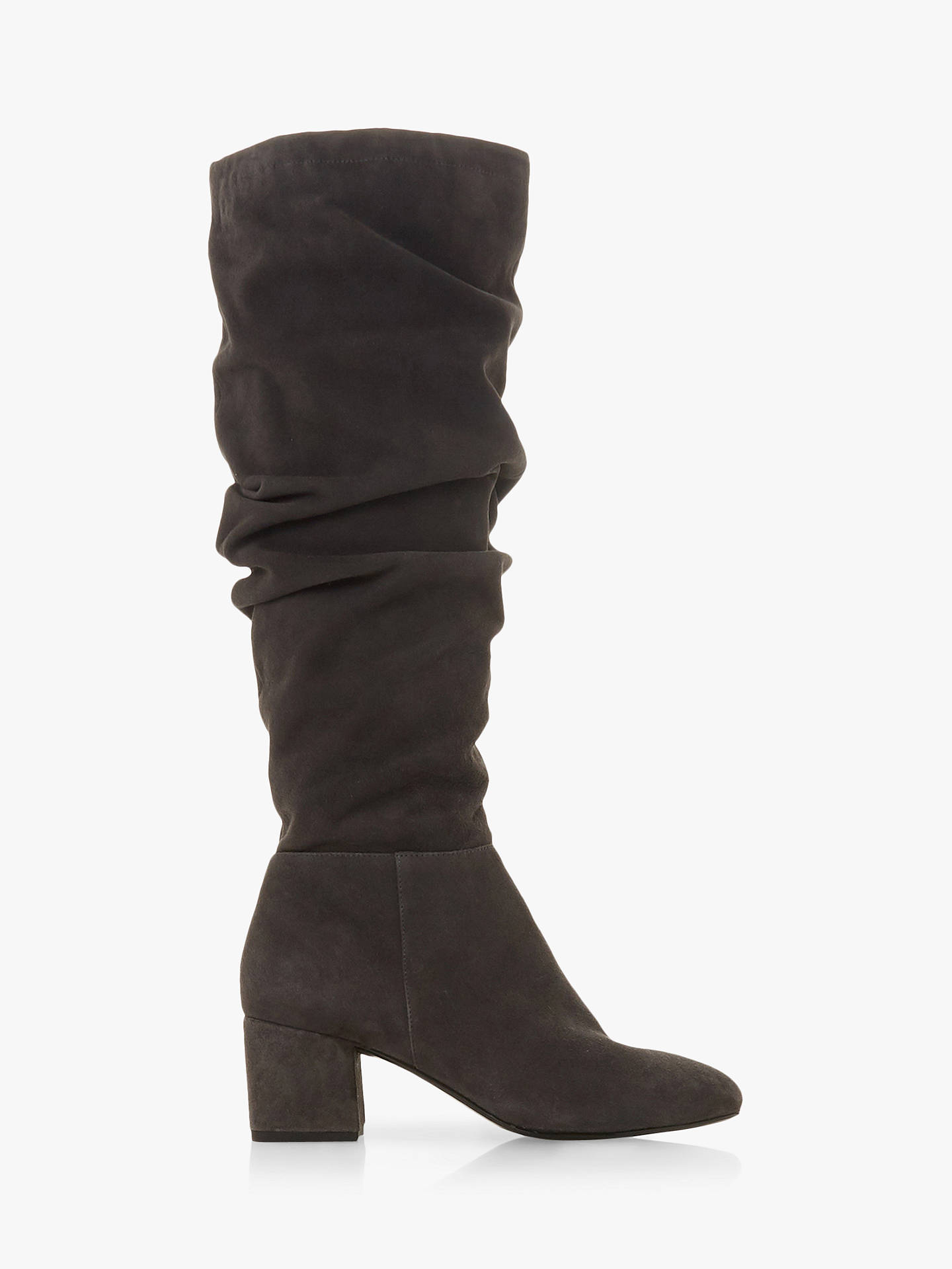 249bd060660f Dune Sarento Ruched Knee High Boots at John Lewis   Partners