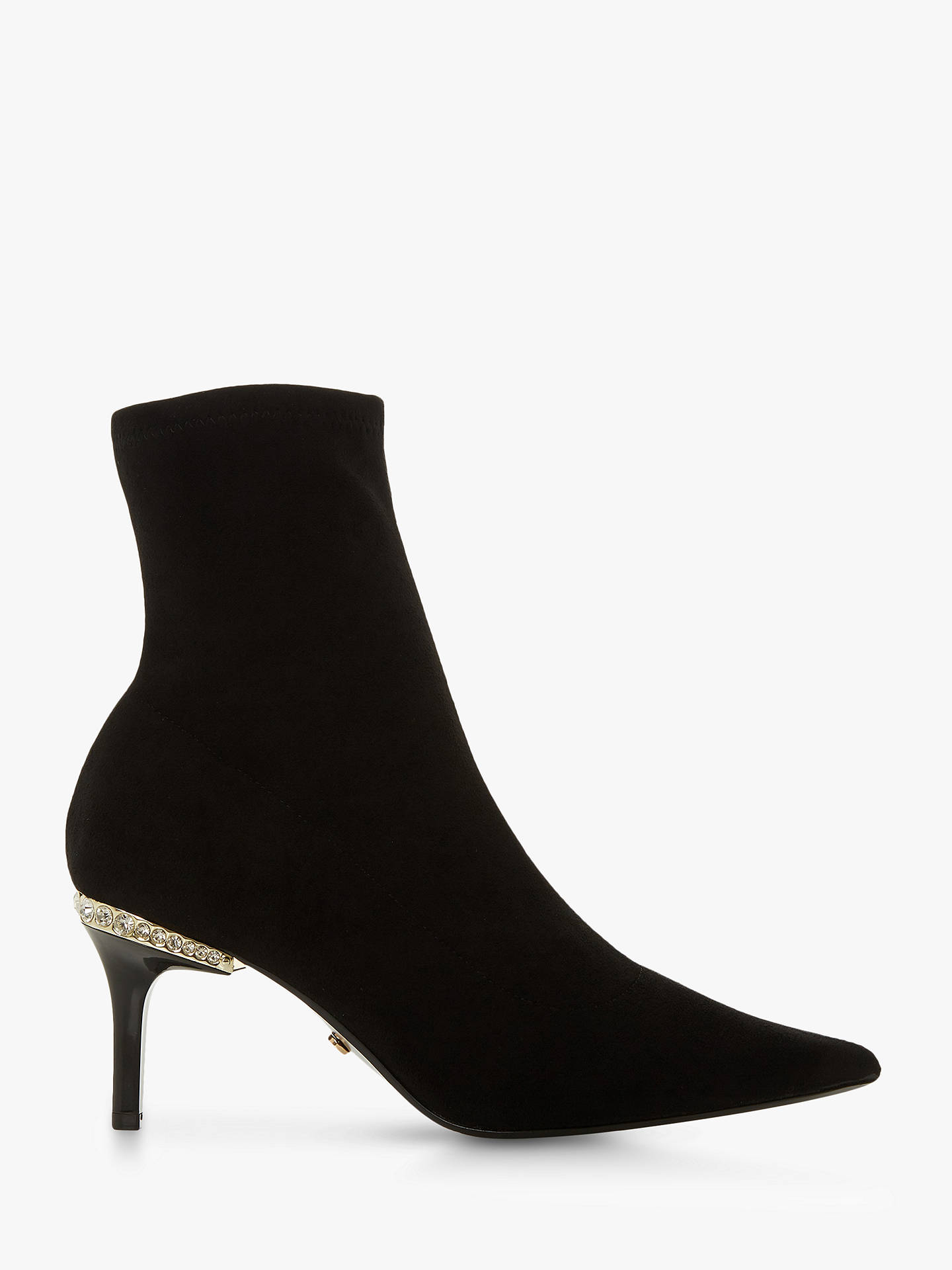 8fcdb6cc71 Buy Dune Olantis Stone Embellished Kitten Heel Boots, Black, 3 Online at  johnlewis.