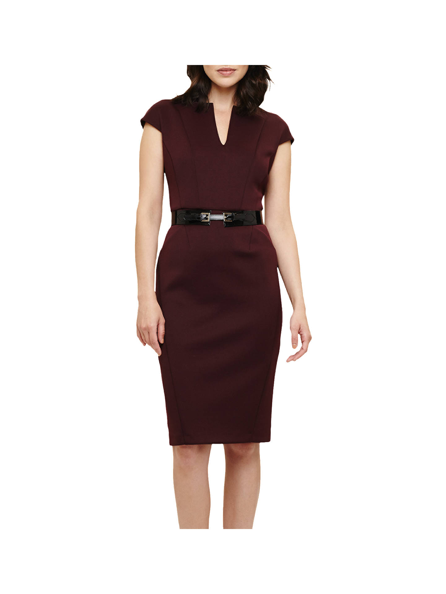 c3bf3c37225a7 Phase Eight Abby Belted Scuba Dress, Claret