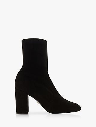 9dec17907af Dune Oriel Block Heel Ankle Boots