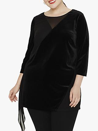 Studio 8 Zia Velvet Top, Black