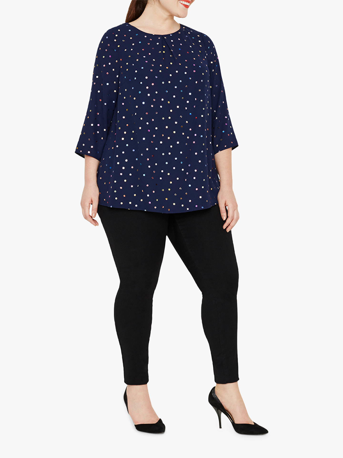 Buy Studio 8 Brooke Spot Top, Blue, 14 Online at johnlewis.com