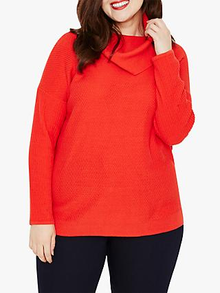 Studio 8 Josie Cowl Neck Jumper, Red